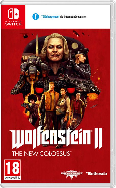 Retrouvez notre TEST :  Wolfenstein II The New Colossus Nintendo SWITCH