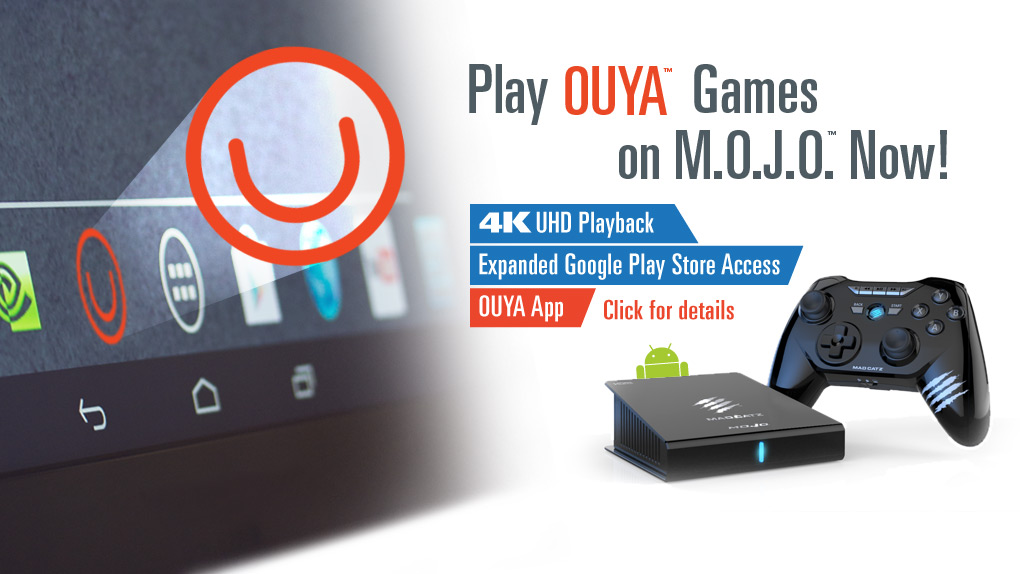 Illustration de l'article sur OUYA arrive sur la M.O.J.O la console de Mad Catz