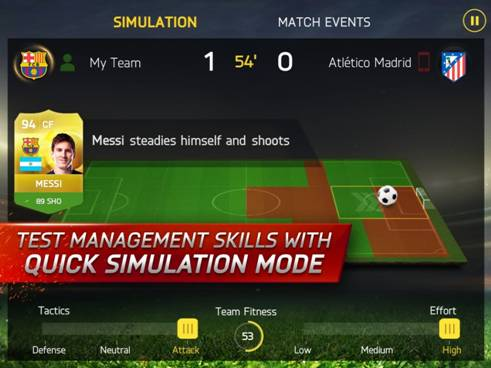 Illustration de l'article sur EA SPORTS FIFA 15 Ultimate est disponible sur mobile et tablette