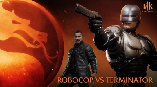 Illustration de l'article sur  RoboCop vs Terminator dansMortal Kombat 11 : Aftermath